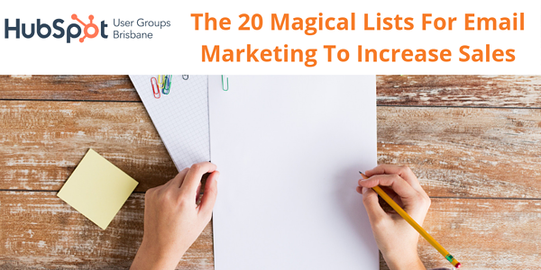 Banner for 20 Magical list email marketing event